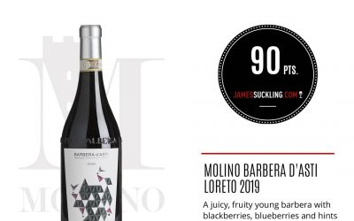 James Suckling – Barbera d'Asti Loreto 2019